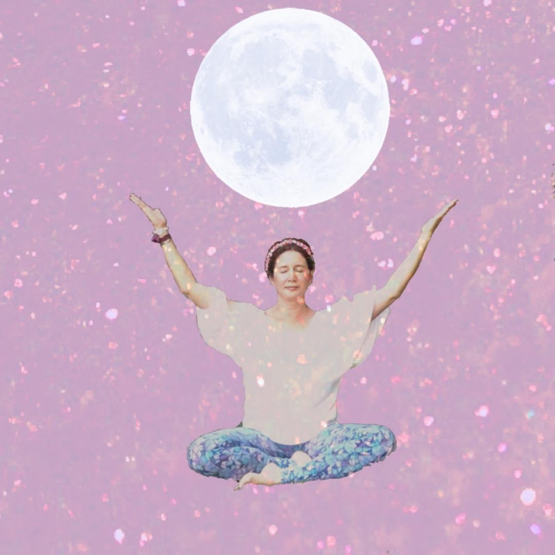 lunar phases, yoga, full moon yoga, lunar mystic,
